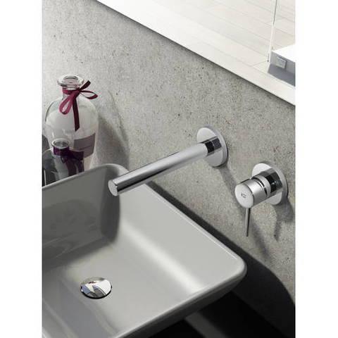 Hotbath Buddy B005 inbouw wastafelmengkraan met rechte uitloop chroom