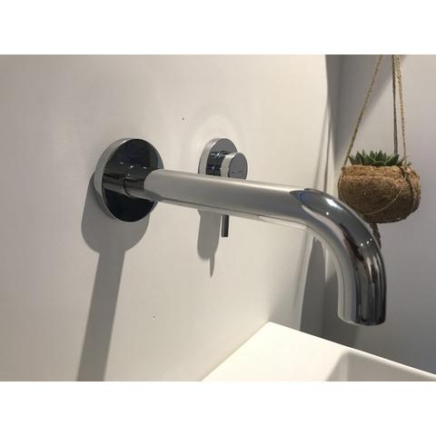 Hotbath Buddy B005J inbouw wastafelmengkraan met gebogen uitloop uitloop chroom