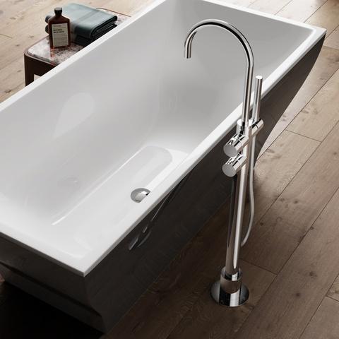 Hotbath Buddy B017 vrijstaande badkraan thermostatisch chroom
