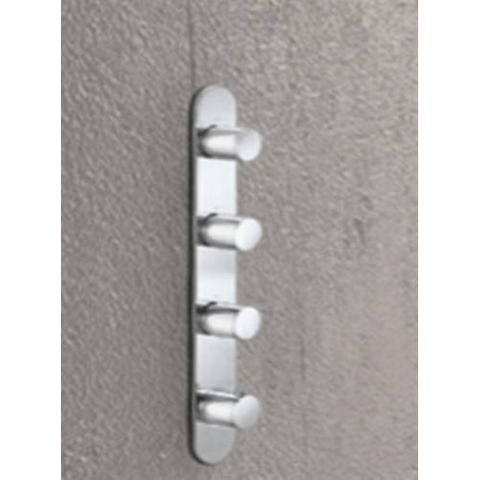 Hotbath Buddy B050 inbouw douchethermostaat met 3 stopkranen - verticale plaatsing - chroom