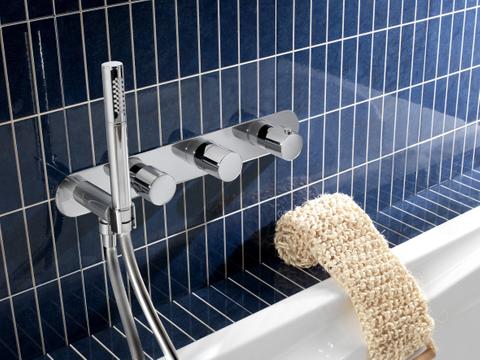 Hotbath Buddy B061 inbouw bad/douche thermostaat 2 stopkranen zonder uitloop chroom