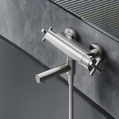 Hotbath Chap C020 badthermostaat geborsteld nikkel