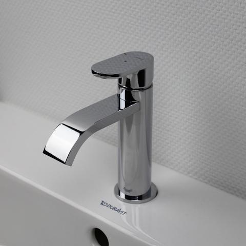Hotbath Friendo F003C wastafelkraan met cascade uitloop zonder waste chroom