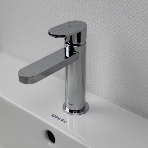 Hotbath Friendo F003 wastafelmengkraan met rechte uitloop zonder waste chroom