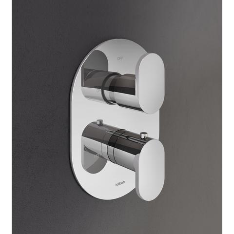 Hotbath Friendo F009 inbouw thermostaat met twee-weg omstel geborsteld nikkel