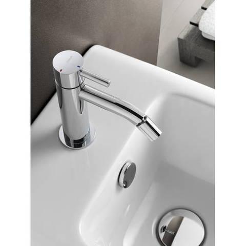 Hotbath Laddy L018 bidetmengkraan zonder waste geborsteld nikkel