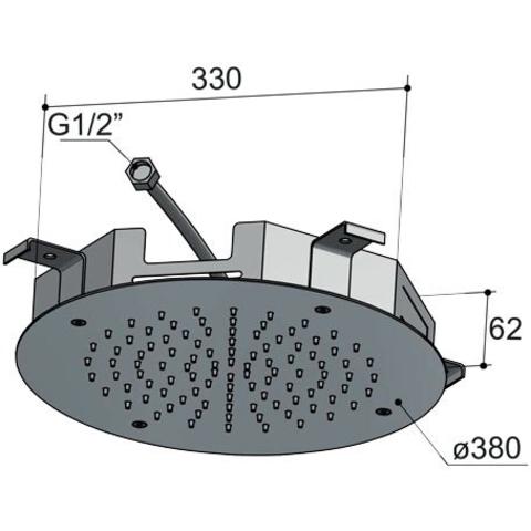 Hotbath Mate M108 hoofddouche 38cm chroom