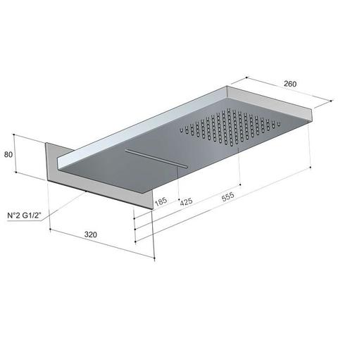 Hotbath Mate M141 Dualflow hoofddouche met regendouche en waterval functie chroom