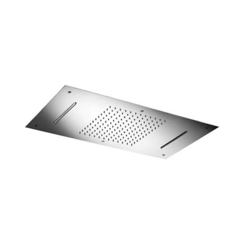 Hotbath Mate M144 Dualflow 38x70cm hoofddouche met regendouche waterval functie en led verlichting chroom