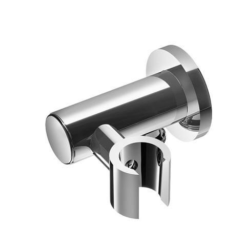 Hotbath Mate M501 wandsteun rond verstelbaar + uitlaat geborsteld nikkel