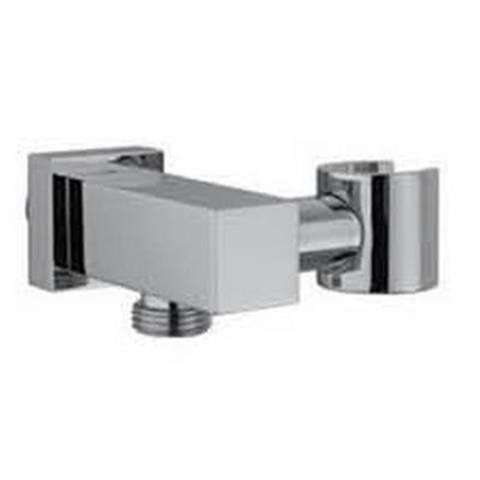 Hotbath Mate M503 wandsteun verstelbaar + uitlaat vierkant geborsteld nikkel