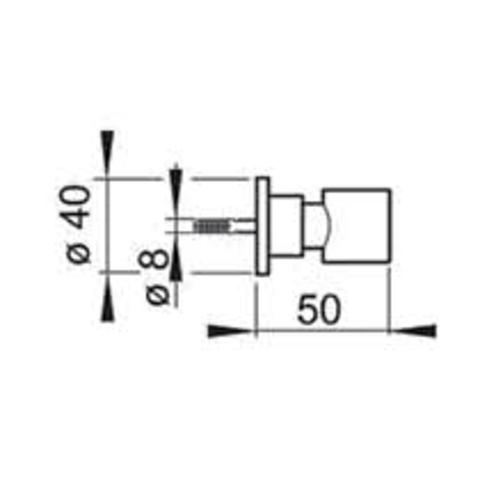 Hotbath Mate M504 wandsteun geborsteld nikkel