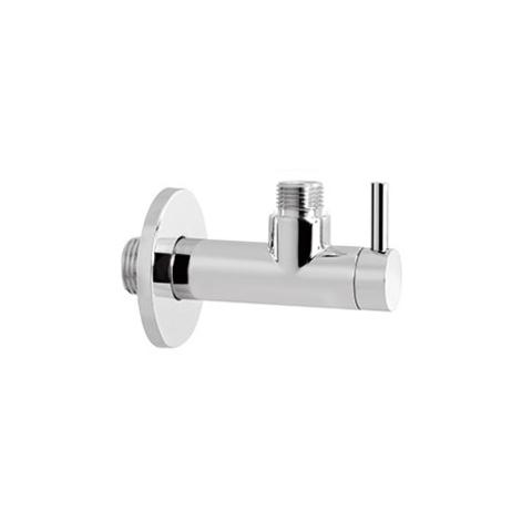 Hotbath Pal P2002 hoekstopkraan met filter rond chroom
