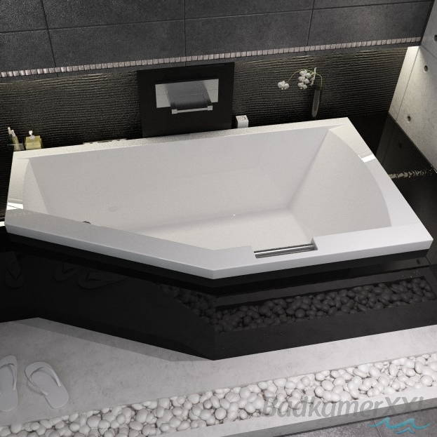 Bedwelming Riho Geta bad acryl 160 x 90 cm links watertoevoer via handgreep EG94