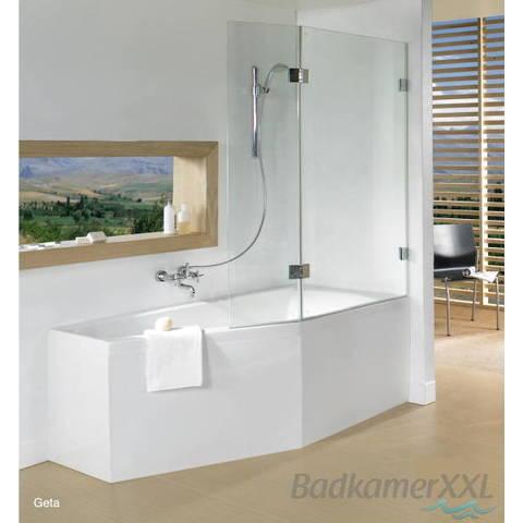 Riho Geta bad acryl 170 x 90 cm links watertoevoer via handgreep wit