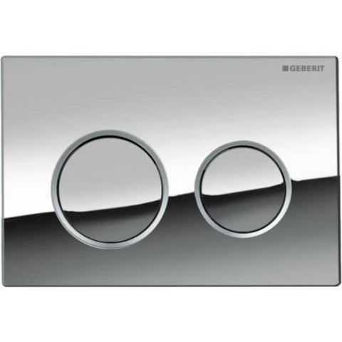 Geberit Omega 20 bedieningsplaat 2-knops front/planchetbediening chroom-matchroom-chroom