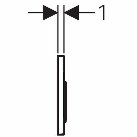 Geberit Omega 20 bedieningsplaat 2-knops front/planchetbediening matchroom-chroom-matchr.