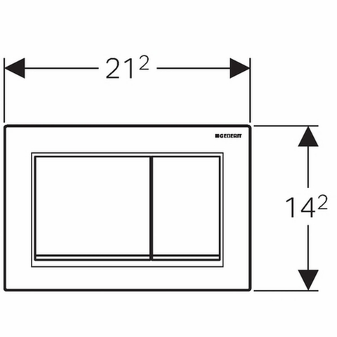 Geberit Omega 30 bedieningsplaat 2-knops front/planchetbediening matchroom-chroom-matchr.
