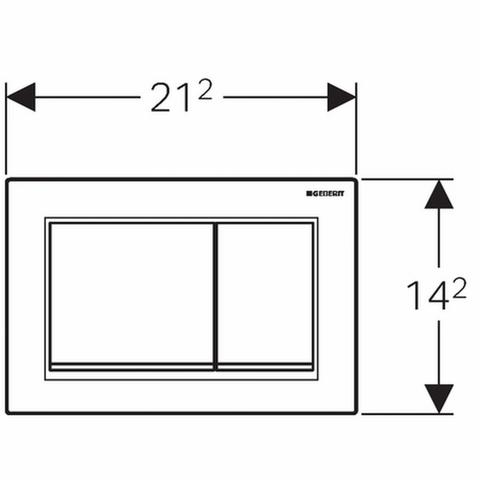 Geberit Omega 30 bedieningsplaat 2-knops front/planchetbediening wit-mat chroom-mat chroom