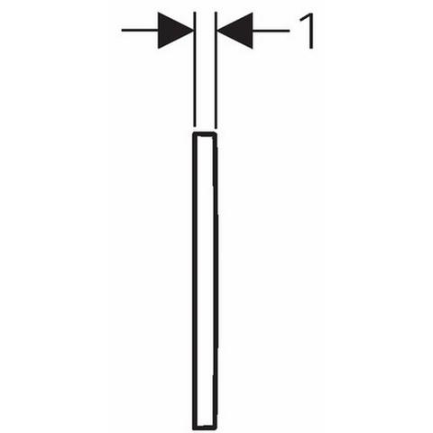 Geberit Omega 30 bedieningsplaat 2-knops front/planchetbediening zwart-chroom-zwart