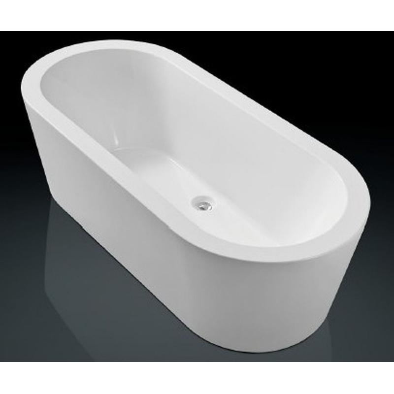 Blinq Arona bad vrijstaand 180x80cm met badwaste & onderstel wit
