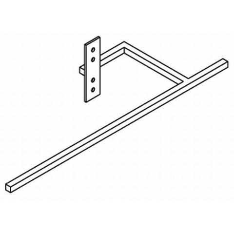 Vasco Beams aluminium beugel 440 mm. wit s600