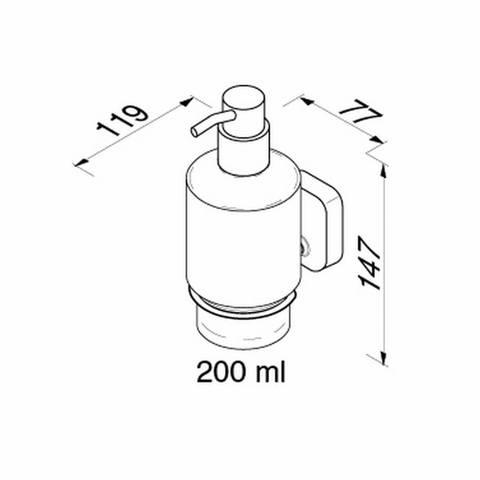 Geesa Thessa zeepdispenser wand 200 ml. chroom