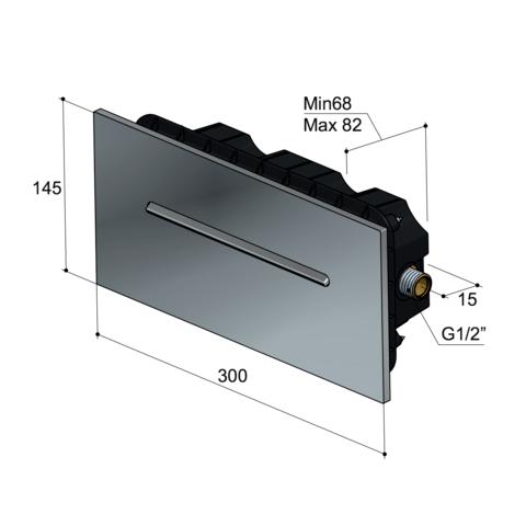 Hotbath Mate M170 Cascade wandinbouw douche uitloop geborsteld nikkel