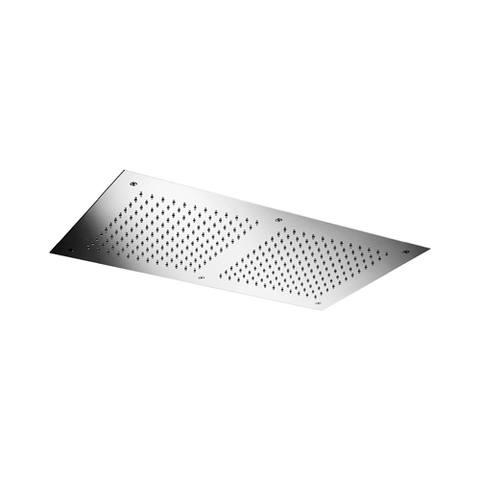 Hotbath Mate M121 hoofddouche 38x70cm met led verlichting geborsteld nikkel
