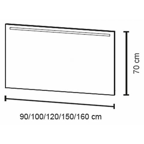 Bruynzeel Spiegel Met Verwarming.Bruynzeel Spiegel 120cm Met Horizontale Led Verlichting