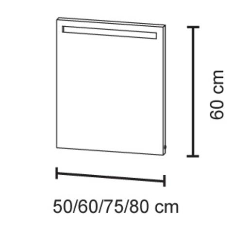Bruynzeel Spiegel Met Verwarming.Bruynzeel Spiegel 80cm Met Horizontale Led Verlichting