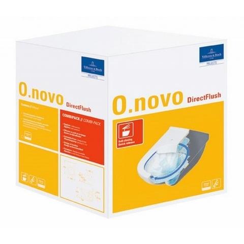 Villeroy & Boch O.novo wandcloset DirectFlush CeramicPlus met zitting SC + QR