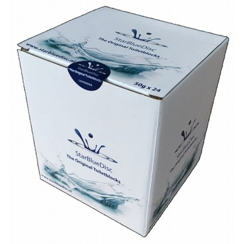 Starbluedisc geurblokjes voor toiletblokhouder jaarverpakking (24 stuks) blauw