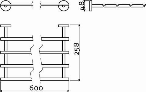 Clou Flat handdoekstapelrek 60cm chroom