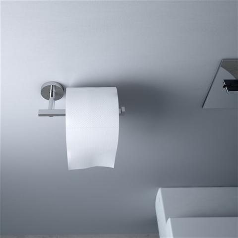 Clou Flat toiletrolhouder zonder klep diepte 7,2 cm chroom