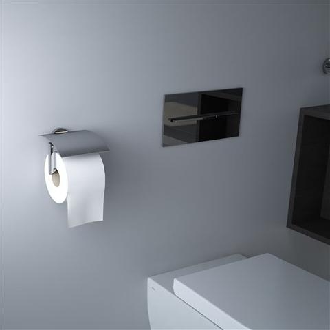 Clou Flat toiletrolhouder met klep