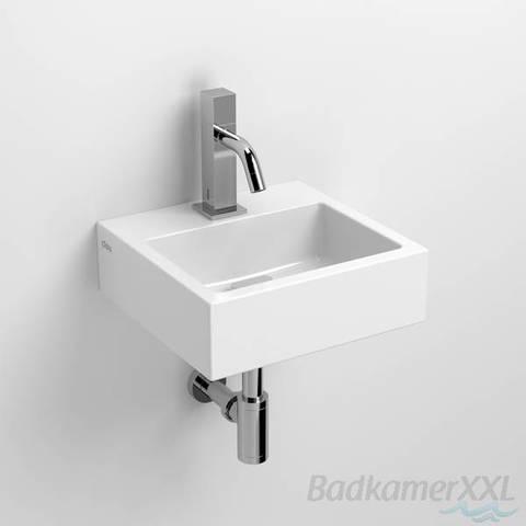 Clou Flush 1 toiletfontein met kraangat wit keramiek
