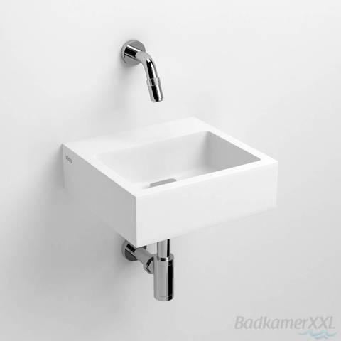 Clou Flush 1 toiletfontein met (voorbewerkt) kraangat aluite