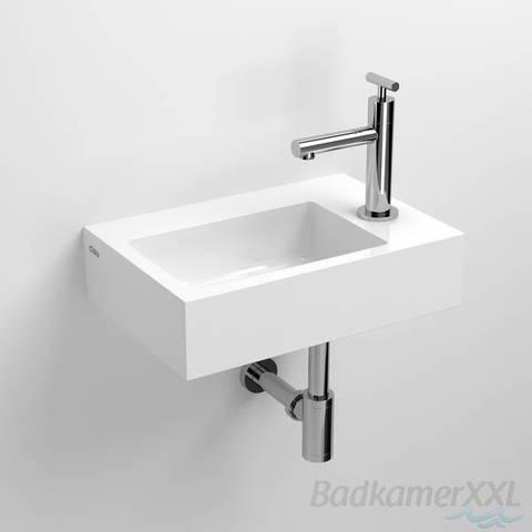 Clou Flush 2 toiletfontein met (voorbewerkt) kraangat mineral marmer
