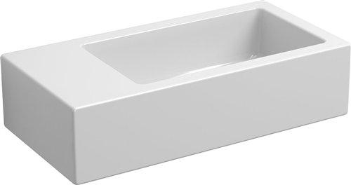 Clou Flush 3 toiletfontein zonder kraangat links wit keramiek