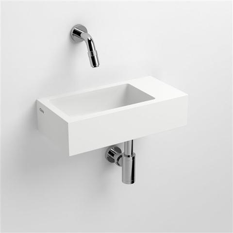 Clou Flush 3 toiletfontein met (voorbewerkt) kraangat rechts aluite