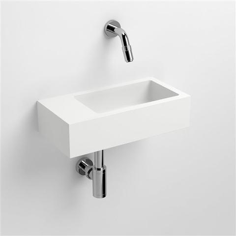 Clou Flush 3 toiletfontein met (voorbewerkt) kraangat links aluite