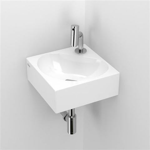 Clou Flush 5 toiletfontein met kraangat wit keramiek