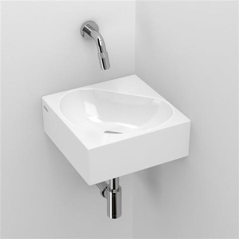 Clou Flush 5 toiletfontein zonder kraangat wit keramiek