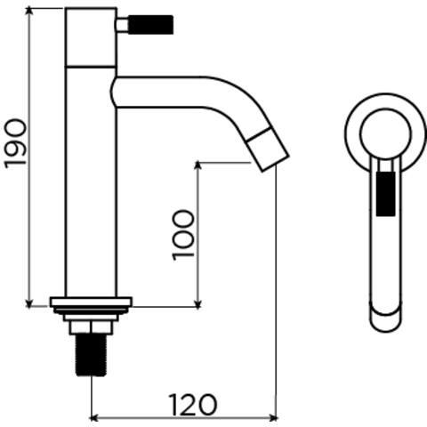 Clou Freddo 2 fonteinkraan hoog RVS geborsteld