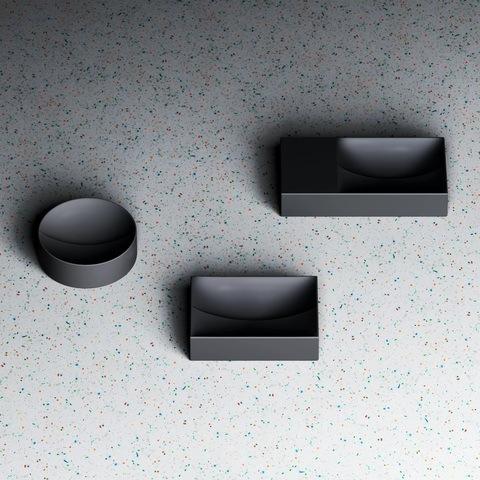 Clou Vale fontein 22cm rond - mat zwart keramiek