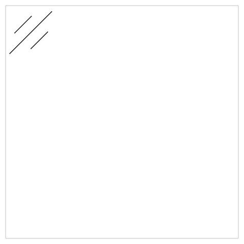 Ink kleurstaal wastafel - polystone glans wit - 6x11cm