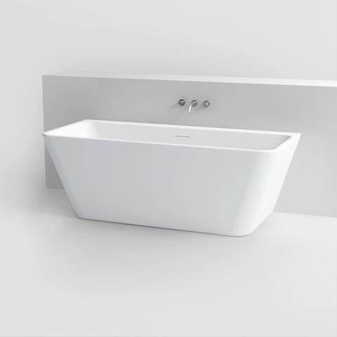 Clou InBe halfvrijstaand bad 170x75cm voor tegen de muur rechthoek wit