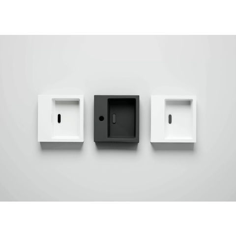Clou Flush afvoerplug t.b.v. flush fontein niet-afsluitbare plug sleuf mat wit