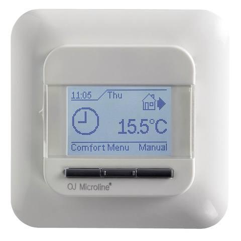 Instamat Sanitherm P01 thermostaat voor vloerverwarming met vloersensor frame Busch Jaeger